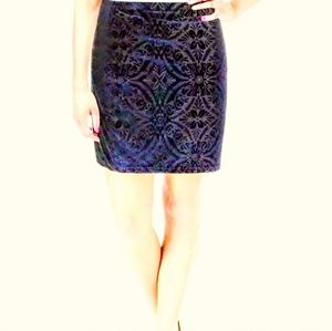 Nordstrom DESIGN LAB velvet pull on skirt.